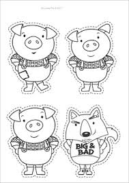 pigs worksheets activities character puppets