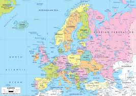 map of europe with country names and capitals political europe map with countries and capitals of all the in