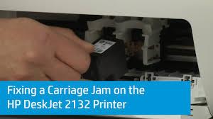 Resume Printer Fixing A Carriage Jam On The Hp Deskjet 2132 Printer Youtube