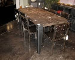 rustic metal and wood dining table improbable dining room rustic table metal attractive rustic metal