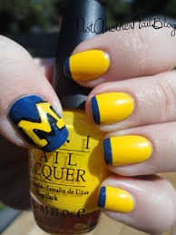university of michigan nails maybe i u0027d do the block m on my ring