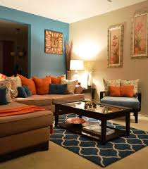 Orange Living Room Decor Teal Brown Living Room Ideas Nurani Org
