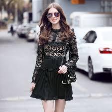 online get cheap self portrait pleated lace dress aliexpress com