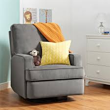 Sleek Recliner by Dorel Living Baby Relax Addison Swivel Gliding Recliner Gray