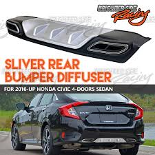 honda civic jdm made for 2016 17 honda civic sedan jdm racing rear bumper diffuser