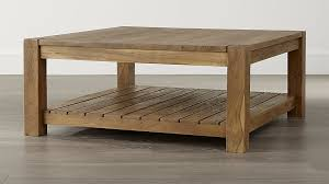 Best Wood For Making A Coffee Table by Edgewood Square Coffee Table Crate And Barrel