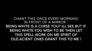 spell to change your skin color youtube