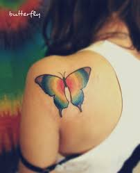 40 creative butterfly tattoos for inspiration rainbow tattoos