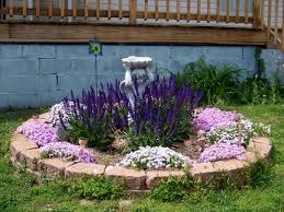 flower bed with ornaments beautiful flower bed design ideas