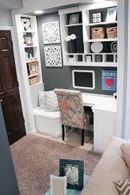 Decorating Ideas For An Office Try This Make A Small Space Office Office Nook Nook And Basements