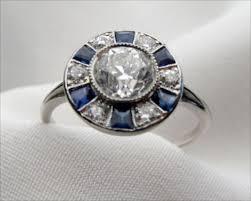 Art Deco Wedding Rings by Art Deco Sapphire Engagement Rings Wedding Promise Diamond