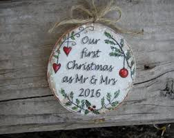 St Christmas Ornament Wedding - our first christmas ornament newlywed ornament wedding gift