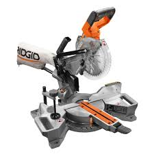 Miter Saw For Laminate Flooring Ridgid 18 Volt 7 1 4 In Cordless Brushless Dual Bevel Sliding