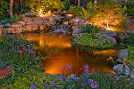 Outdoor Water Features With Lights by Nightscape With Low Voltage Landscape Lighting Cider Mill