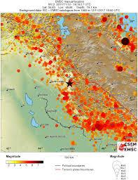 map iran iraq extremely dangerous m7 3 earthquake hits iran iraq border region