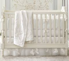 Crib Bedding Sets Lhuillier Ivory Baby Bedding Sets Pottery Barn