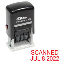 What Side Do Stamps Go On by Amazon Com Shiny Self Inking Rubber Date Stamp Scanned S 303