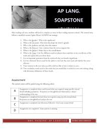 Soapstone For A Modest Proposal 15 16 Syllabus Ap Language And Composition