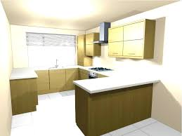 minimalist l shaped kitchen design with white granite countertop