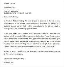 free cover letter examples for customer service law cover letter