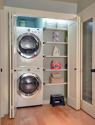 build a space for the washer and dryer between cabinets and