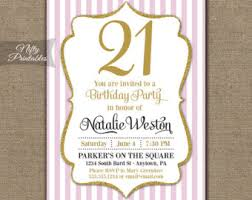 21st birthday invitations black u0026 gold glitter twenty