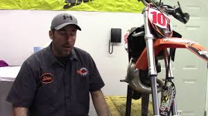 how to change the fork seals on a ktm 65 sx motocross bike youtube