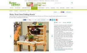 Free Wooden Potting Bench Plans by 7 Plans U0026 Designs For Creating A Potting Bench