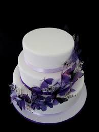 purple butterfly wedding cake top view rachel flickr