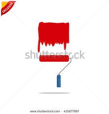 paint brush roller brush stock vector 245107477 shutterstock