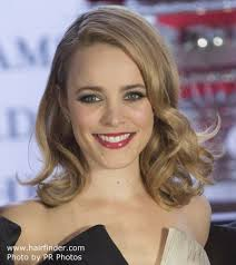 rachel thinning hair rachel mcadams with her long blonde hair styled into barrel curls