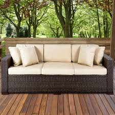 Best Outdoor Wicker Patio Furniture Best Choice Products Outdoor Wicker Patio Furniture Sofa 3 Seater