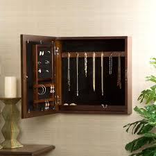 Jewelry Cabinet Mirror Furniture Classic Wall Mounted Jewelry Armoire Cabinet Ideas