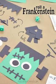 Halloween Arts And Crafts Ideas Pinterest - halloween game for kids roll a frankenstein goblin