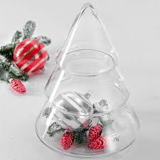 glass fir tree jar with lid clear by leonardo at dotmaison