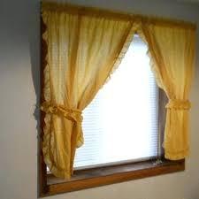 Tie Back Kitchen Curtains by Yellow Ruffle Curtains U2013 Brapriseronline Com