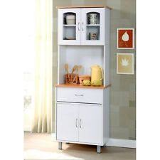 Kitchen Microwave Pantry Storage Cabinet Microwave Cabinet Ebay