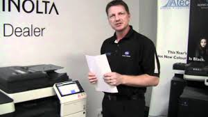 konica minolta bizhub c754 basic demonstration youtube