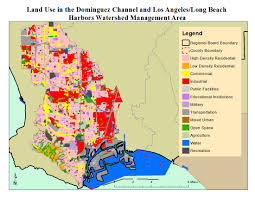 Los Angeles Area Map by Dominguez Channel And Los Angeles Long Beach Harbors Wma