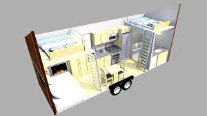 House Trailer Floor Plans by This Tiny Home On A Trailer Is Styled After Famous Wisconsin