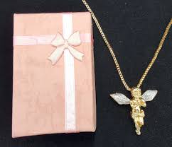 wings necklace pendant images Gold tone sparkled silver stardust wings hip hop guardian angel jpg