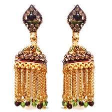 big jhumka gold earrings rabbi gold plated mastani big jhumka earrings with high