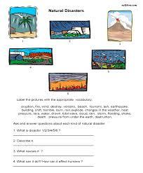 natural disasters natural disasters worksheets and students