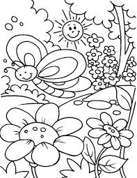 spring colouring pages preschoolers spring flower coloring