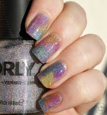 my polish stash sparkly rainbow nails with orly mirrorball and