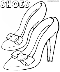 coloring shoes coloring page