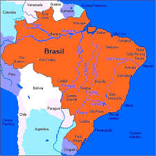 Colorado River On A Map by Brazil Map Of Rivers Graphatlascom Brazil Inland Water Transport