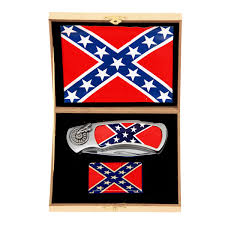Confederate Flag Rear Window Decal Confederate Flag Knife And Lighter Set