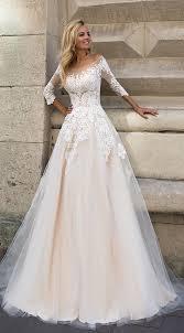 blush wedding dress with sleeves best 25 blush wedding gowns ideas on pink wedding