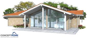 modern home plan ch146 with vaulted ceiling